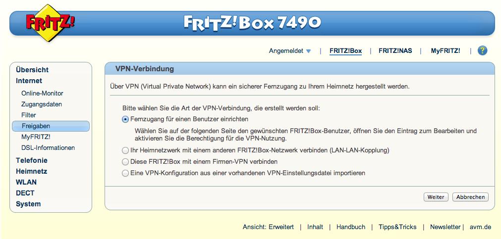 <b>Fritzbox 7490</b> - <b>VPN</b> mit dynDNS <b>einrichten</b> - Modius - Techblog