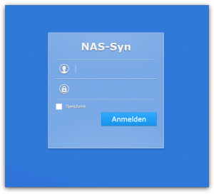 Synology - Login Fenster