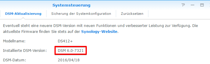 Synology Firmware