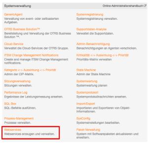 OTRS-Webservice