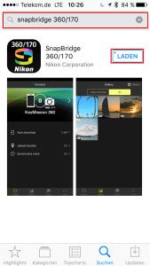 iPhone-SnapBridge-Suchen-Installieren