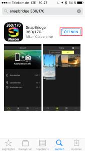 iPhone-SnapBridge-öffnen