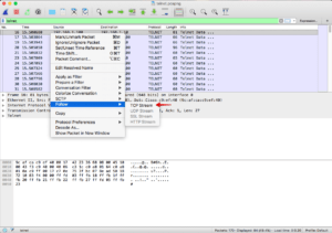 Wireshark TCP Stream folgen