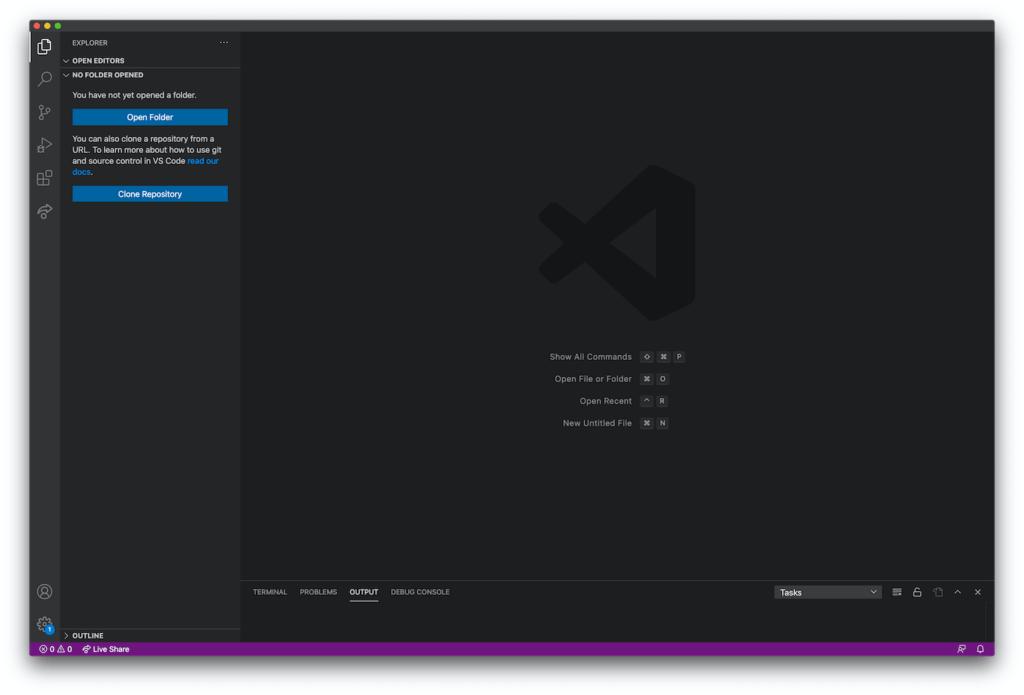 Visual Studio Code Editor Fenster